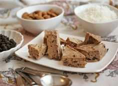 This Bark is Worth its Bite - Cinnamon Spiced Coconut Bark - Diet, Dessert & Dogs inspired by Heather Eats Almond Butter Dairy Free Treats, Dairy Free Recipes, Gluten Free, Vegan Candies, Healthy Desserts, Anti Candida Recipes, Whole Food Recipes, Dessert Recipes, Healthy Sweets