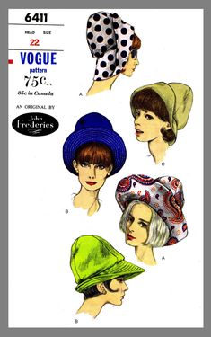 Millinery Hats Bonnet Summer Shopping Bag Fabric Sewing Pattern McCall/'s 1932
