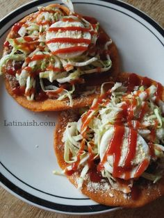 Recipe for Enchiladas Salvadoreñas which are somewhat similar to Mexican tostadas and sopes.