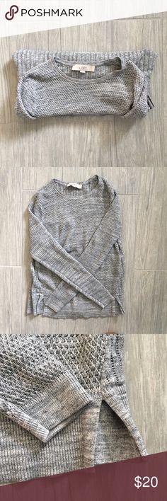 LOFT GREY SWEATER LOFT grey long sleeve sweater. Crew neck. In excellent condition! LOFT Sweaters Crew & Scoop Necks
