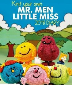 Mr Men and Little Miss Calendar! – knits by sachi Loom Knitting, Knitting Patterns Free, Free Knitting, Crochet Patterns, Knitting Toys, Knitting Ideas, Free Pattern, Little Miss Books, Mr Men Little Miss