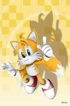 Tails the fox iPhone 4 wallpaper