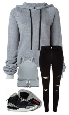 """Black And Grey 422"" by mrswilkinson ❤ liked on Polyvore featuring Unravel and MICHAEL Michael Kors"