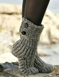 Womens Hand Knitted Slipper Boots, Hand Made, Custom Designs, All Colors Available by twinklesparkleknits on Etsy