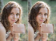 Retouching skin in Photoshop
