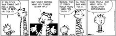 Calvin and Hobbes- open to continuous learning