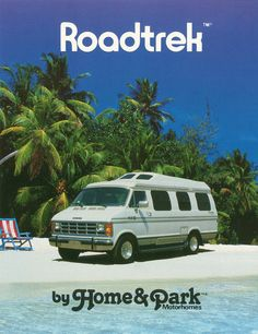 #ThrowbackThursdays A classic 1991 Roadtrek Home & Park Motorhome on a pristine beach. There are very few things better than this picture.