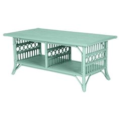 Wicker Coffee Tables | Painted Cottage and Coastal Living Style |... ($690) ❤ liked on Polyvore
