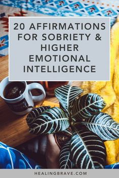 20 Affirmations for Sobriety and Higher Emotional Intelligence Healing Affirmations, Morning Affirmations, Positive Affirmations, Mental Health Support, Mental Health Awareness, High Emotional Intelligence, Understanding Depression, Getting Sober, Quit Drinking