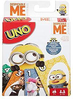 Amazon.com: Mattel Games UNO Despicable Me Card Game: Toys & Games Uno Card Game, Uno Cards, Kids Cards, Abc Games, Fun Board Games, Elmo Abc, Evil Minions, Mattel, Games Images