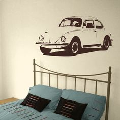 Vintage Car - Vinyl Wall Decal Love this idea for teen room!