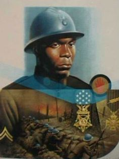 Above and Beyond the Call of Duty (Medal of Honor)  Cpl. Freddie Stowers: On Sept. 28, 1918, while serving as squad leader of Company C, 371st Infantry Regiment, 93rd Division, Stowers went above and beyond the call of duty when his company led the attack at Hill 188, Champagne Marne Sector, France, according to his Medal of Honor citation.