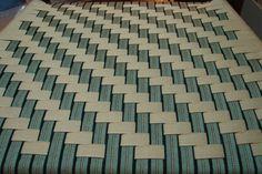 Herringbone in beige and black/olive/beige stripe Herringbone, Weaving, Beige, Quilts, Patterns, Rugs, Chair, Black, Home Decor