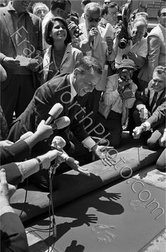 Frank Sinatra Hands in Cement Hollywood Blvd 1965