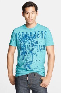 Men's Dsquared2 'Pacific Splash' Graphic T-Shirt