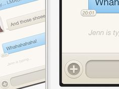 iPhone Chat UI  by Kevin Anderson