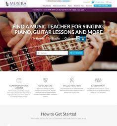 Website Design Enhancements for Music Education Industry - Musika Music Lessons, Guitar Lessons, Ui Ux Designer, Custom Web Design, Website Design Company, Responsive Web Design, Web Design Services, Music Education, Teacher