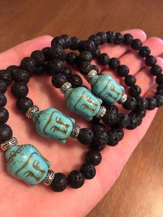 BUDDHA Diffuser Bracelet Turquoise Howlite by TempleAdornment