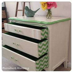 Love this idea...just use something besides Chevron pattern for me.