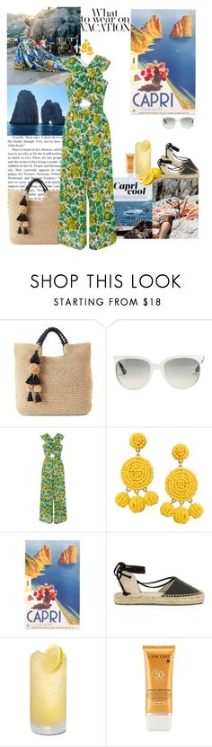 """""""Capri"""" by francyilaria ❤ liked on Polyvore featuring SONOMA Goods for Life, Dolce&Gabbana, Ray-Ban, Alice McCall, Humble Chic, Soludos and Lancôme"""