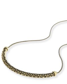 Kendra Scott: Lucy Choker Necklace In Antique Brass