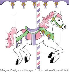 Free clip art carousel horse  | Royalty-Free (RF) Carousel Horse Clipart Illustration by Pams Clipart ...