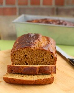 Mmmm nothing says Thanksgiving like warm pumpkin bread!