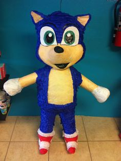 Sonic the Hedgehog Pinata by TheFabPartyShop on Etsy, $45.00