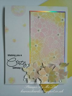 Stamps By Me Crazy stamp set #stampsbyme #crazystampset #dtsample #heatembossing #distressinks #flowers #stamping #stamps #cardmaking #cards #handmade #craft  #creative