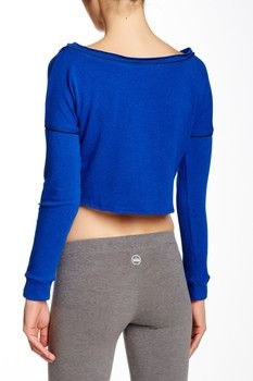 Solow Piped Crop Sweatshirt Gym Essentials, Nordstrom, Sweatshirts, Sweaters, Shopping, Fashion, Moda, Fashion Styles, Trainers