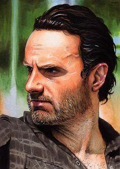 The Walking Dead Artwork. By Trev Murphy. Rick ❤️
