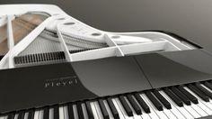 Corde e tasti Peugeot Design Lab - La cordiera si trova alla stessa altezza dei tasti