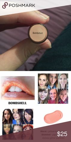 Bombshell LipSense Color Bombshell is a warm, soft nude with a champagne shimmer. LipSense is a revolutionary long lasting lip color that will not dry out your lips! For long lasting results and great feeling lips top your color with a Shea based LipSense gloss to seal in the color, protect the color, give your lips a unique finish, and moisturize. #lip #lips #lipstick #lipsense #senegence #liplove #makeup #beauty #lipproduct #beautyproduct Makeup Lipstick