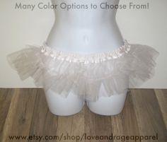 Micro Petticoats: Buyers choose from a variety of colors. #rave #music #festival #club #ravewear #clubwear #dance #gogo #dancer #edm #plur #edc #umf #custom #bra #tutu www.etsy.com/shop/loveandrageapparel