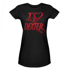 Dexter Blood Spatter I Heart Dexter Women's T-Shirt.....  HEART u DEXTER!!!!!  <3 <3 <3