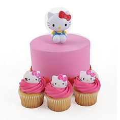 Hello Kitty Spoon Cake Topper and 24 Cupcake Topper Rings * Want to know more, click on the image.  This link participates in Amazon Service LLC Associates Program, a program designed to let participant earn advertising fees by advertising and linking to Amazon.com.