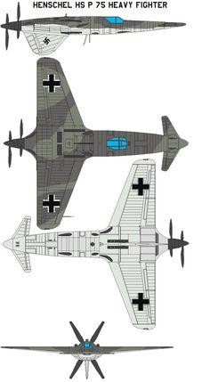 https://flic.kr/p/aiwBxM | Henschel Hs P.75 4V color by bagera3005 | bagera3005.deviantart.com/art/Henschel-Hs-P-75-Heavy-Figh...