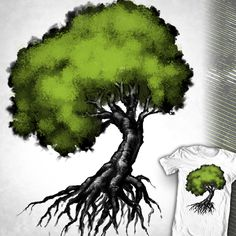 """Just a Tree"" Design up for voting at http://shirt.woot.com/derby/entry/86432/just-a-tree until 5/28/15."