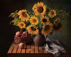 Still Life Photos, Good Presentation, Still Life Photography, Sunflowers, Be Still, Beautiful Images, Apples, Something To Do, Gallery