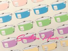 Crockpot Inspired Slow Cooker Stickers Perfect for Erin Condren, Filofax, Plum Paper, Kate Spade, and Kikki K Planners by SouthernHaute on Etsy