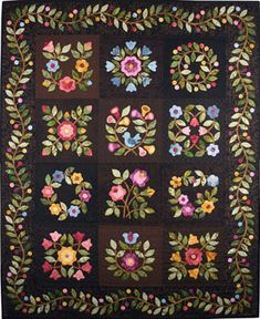 """Cynthia's Garden. Quilt designs by Lori Smith. Lots of patterns available, most blocks are 8"""" square. Other patterns also available, both pieced and applique."""