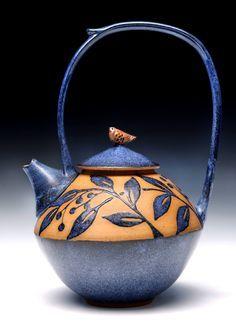 Lehrer Danze, Artsy Teapots, Teas Time, Artists Teapots, Ceramics Teapots, Pottery Pour Vessel, Dana Lehrer, Vessel Iii, Funky Teapots