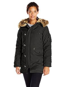 1c246e69d7e76 Great for Alpha Industries Women s Altitude Slim Fit Oxford Nylon Parka  womens fashion clothing.