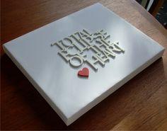 3D canvas art.. DIY wedding guest book?