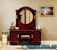 Meja Rias Minimalis Mewah Info Wa : +6285 227 602 830 Gmail : csfurniturejatitua@gmail.com  Meja Rias Sangat Mewah, Meja Rias Paling Terbaru Decor, Lowes Home Improvements, Furniture, Bedroom Mirror, Mirrored Bedroom Furniture, Furniture Restoration, Big Dresser, Home Decor, Bedroom Chest