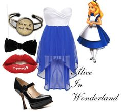 Alice in wonderland formal outfit