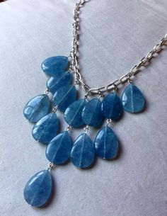 25mm Blue Malaysia Jade Dangle Necklace on Etsy, $36.50