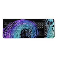 Shop Liquid Rainbow Wave Wireless Keyboard created by BlueRose_Design. Personalize it with photos & text or purchase as is! Liquid Rainbow, Keyboard, Personalized Gifts, Waves, Mice, Modern, Artwork, Gift Ideas, Design