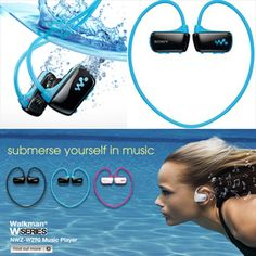 @Kaitlin Hohnholt we need these for next summer. We are really going to work out hard at the pool!! Sony Underwater Walkman #Gadgets