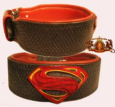 Man of Steel collar:  Please check out my site for more info:  www.etsy.com/shop/olicollars